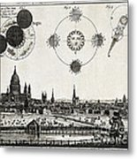 London With Eclipse Diagram, 1748 Metal Print