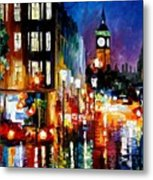 London's Lights Metal Print