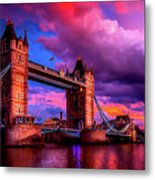 London's Tower Bridge Metal Print