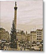 London's Trafalgar Square Metal Print