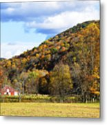 Lone Barn Fall Color Metal Print