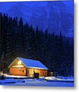 Lone Cabin In The Rockies Metal Print