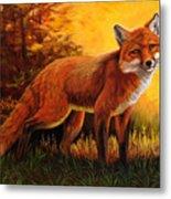 Lone Fox Metal Print