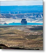 Lone Rock In Lake Powell Utah Metal Print
