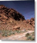 Lone Rock Road Overton Nevada  Metal Print
