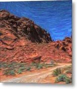 Lone Rock Road Paint  Metal Print