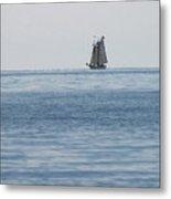 Lone Ship At Sea Metal Print