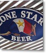 Lone Star Beer Metal Print