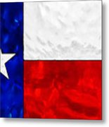 Lone Star Stained Glass Metal Print
