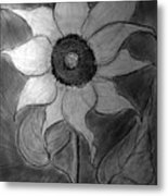 Lone Sunflower Iv Metal Print