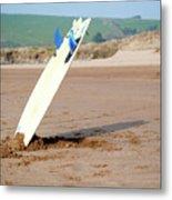 Lone Surfboard Metal Print