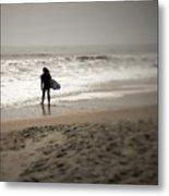 Lone Surfer II Metal Print