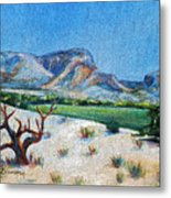 Lone Tree At The Ghost Ranch Metal Print