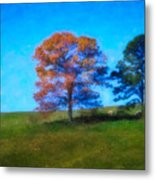 Lone Trees Painting Metal Print
