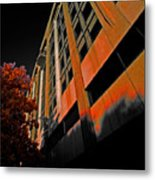 Lonely Balkony Infrared Color 80 Metal Print