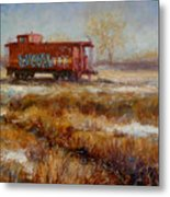 Lonely Caboose Metal Print