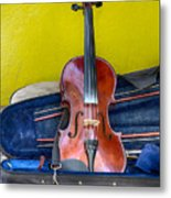 Lonely Fiddle Metal Print