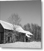Lonely Grey Barn Metal Print
