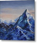 Lonely Mountain Cliff Metal Print
