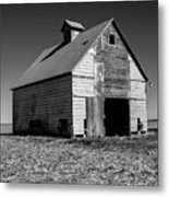 Lonely Old Barn Vertical Metal Print