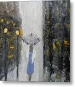 Lonely On A Street Metal Print