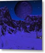 Lonely Outpost Metal Print