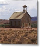 Lonely Schoolhouse Metal Print