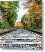 Lonely Tracks Metal Print