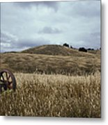 Lonely Tractor Panorama Metal Print