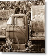 Lonely Truck Metal Print