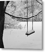 Lonely Winter Swing Ipswich Ma Metal Print