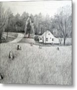 Lonesome Road Metal Print