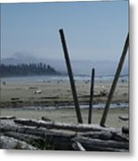 Long Beach Summer Days Metal Print