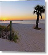 Long Beach Sunrise - Mississippi - Beach Metal Print