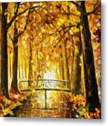 Long Before Winter - Palette Knife Oil Painting On Canvas By Leonid Afremov Metal Print