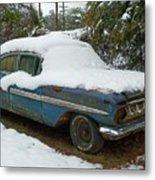 Long Cool Blue Impala Metal Print