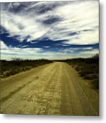 Long Dusty Road In Jal New Mexico  Metal Print