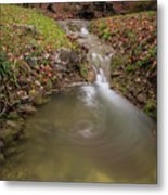 Long Exposure Picture Of Waterfall Metal Print
