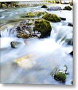 Long Exposure River Shkumbin  Metal Print
