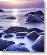 Long Exposure Sea And Rocks In Estonia Baltic Sea Metal Print