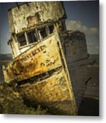 Long Forgotten Boat Metal Print