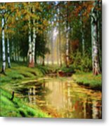 Long Indian Summer In The Woods Metal Print