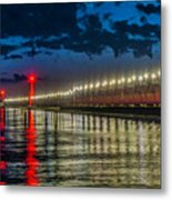 Long Lights At Grand Haven Pier Metal Print