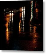 Long Lights At Night Metal Print