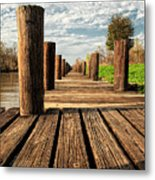 Long Long Way To The Bayou - Louisiana Dock Metal Print