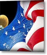 Long May She Wave The American Flag Metal Print