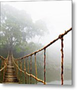 Long Rope Bridge Metal Print