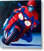 Long Shadows - Kawasaki Zx6 Metal Print