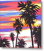 Long Skinny Sunset Metal Print