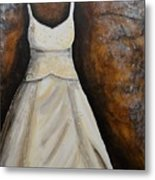 Long White Gown  Metal Print